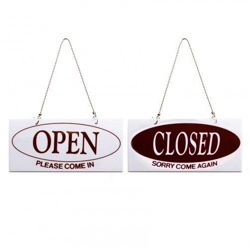 OPEN/CLOSED (양면)